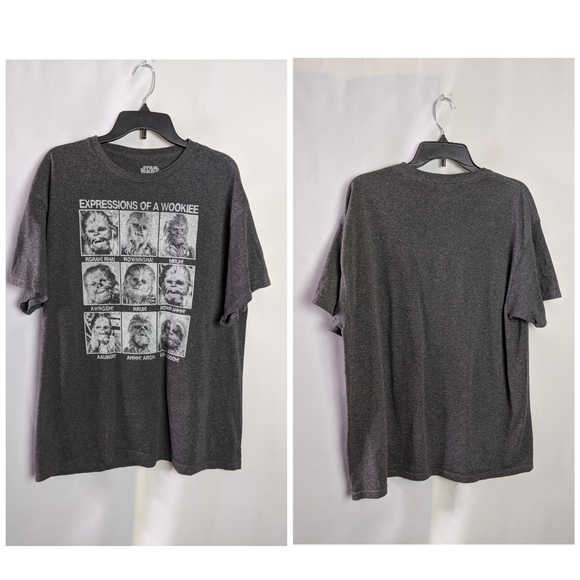 Star Wars Other - Star Wars Expressions of a Wookie Gray T Shirt XL